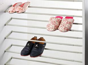 新款 衣柜五金 铝合金伸缩鞋架 鞋柜翻转架 组合架(单层价),鞋柜,