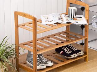 味老大正品授权 竹制多功能收纳架 置物架 鞋架 3.2,鞋柜,