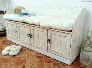 地中海风格家具 多功能做旧鞋柜 收纳柜 门厅柜,鞋柜,
