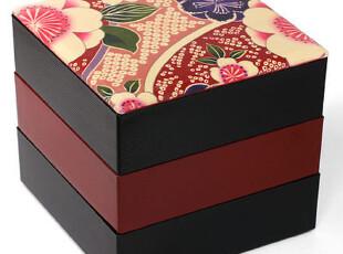日本进口 超人气便当盒 千筋三段重箱 【樱】,饭盒,