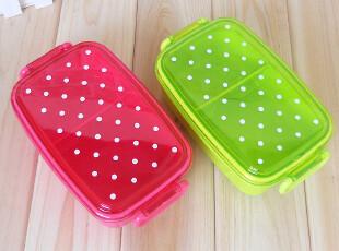 小号可爱糖果色波点寿司盒 儿童宝宝便当盒饭盒 单层可微波480ML,饭盒,