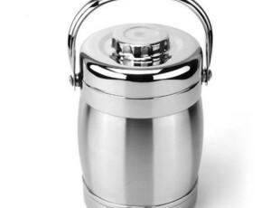 锋田利1.6L超强保温真空不锈钢保温提锅  手提保温饭盒 共三层,饭盒,