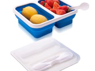 Stylor/花色家居 厨房用品 双拼 折叠饭盒 便当盒 便携 正品,饭盒,