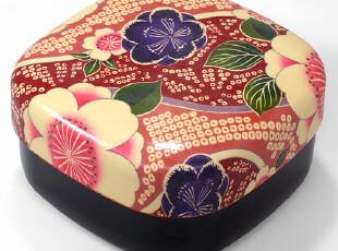 日本进口 和风 便当盒 布貼行楽弁当箱 【桜ピンク】,饭盒,