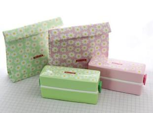 韩国代购 可爱长方形双层日式便当盒饭盒/2色可选,饭盒,