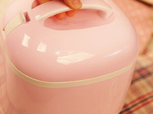 『韩国网站代购』暖暖的很幸福 甜美风格三层保温便当盒套装,饭盒,
