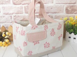 棉麻花朵午餐包 冰袋冰包野餐包 饭盒袋便当包 奶瓶母乳小保温袋,饭盒,