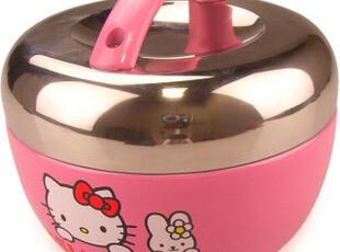 hello kitty 可爱卡通不锈钢1L保温便当盒 创意双层卡通保温饭盒,饭盒,