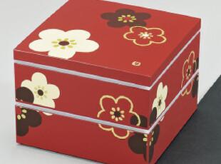 HAKOYA梅花双层方形大便当盒饭盒保温盒3.5L容量日本制包邮,饭盒,