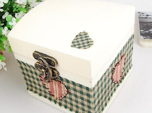 ZAKKA风 木制贴布首饰盒 木盒 收纳盒,首饰盒,