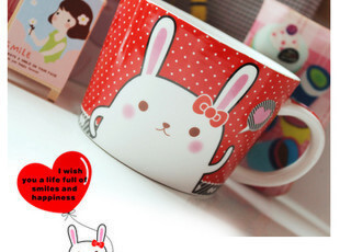 Kakikaki可爱卡通汤杯 创意动物水杯 陶瓷马克杯 情侣杯子奶牛杯,马克杯,