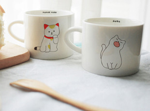 创意 可爱 猫猫系列陶瓷杯 咖啡杯 马克杯 zakka 杂货 九款可选,马克杯,