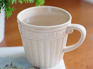 日式浮雕简约zakka杯马克杯可爱水杯牛奶杯陶瓷杯咖啡杯欧式复古,马克杯,
