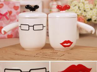 小石头★帅哥美女情侣对杯 陶瓷杯子 马克杯 咖啡杯 水杯 一对价,马克杯,