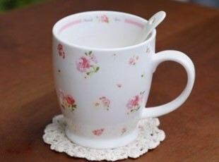 可爱 小碎花陶瓷杯(礼盒装) 陶瓷马克杯 水杯 zakka 杂货,马克杯,