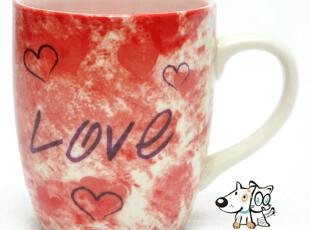 {谣言}良品 荷兰馆系列 LOVE感情杯 陶瓷杯 水杯 创意杯子 马克杯,马克杯,