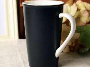 STARBUCKS经典创意星巴克黑色磨砂陶瓷马克杯子办公水杯礼物礼品,马克杯,