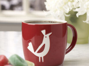 美国直送 星巴克starbucks 鹧鸪鸟红色陶瓷马克杯14oz 现货,马克杯,