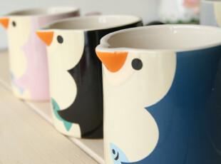 优品课の天克 可爱卡通 彩色 创意企鹅造型 陶瓷杯子 马克杯 4色,马克杯,