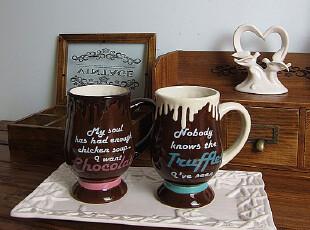 外贸 欧美原单 陶瓷大容量咖啡杯马克杯巧克力情侣杯子情人节礼物,马克杯,