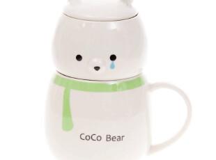环保北极熊可爱卡通马克杯/奶茶杯/整套茶具 4色选 4546 0.8kg,马克杯,