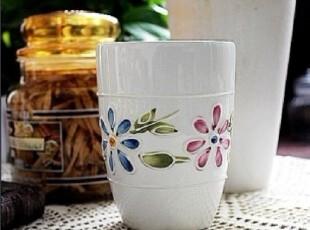 【A grass瑕疵】外贸陶瓷立体浮雕手绘马克杯--A款!,马克杯,
