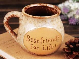 zakka欧式复古陶瓷马克杯咖啡杯奶茶早餐杯字母创意可爱情侣水杯,马克杯,