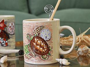 海洋世界 海龟 海螺 海星 图案 马克杯 外贸尾单 生日礼物,马克杯,