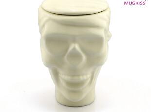 麦格士 陶瓷马克杯 创意水杯子 骷髅杯子 基督山伯爵收藏杯 带盖,马克杯,