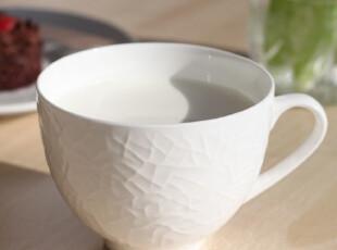 外贸原单纯白马克杯水杯咖啡杯子情侣杯创意杯子浮雕骨瓷杯陶瓷杯,马克杯,