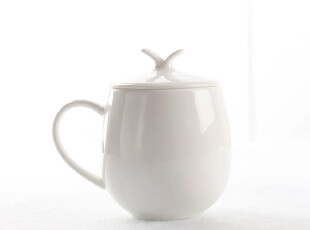 [b03]|早餐杯有盖子 纯白|唐山优质骨瓷|杯子|水杯|马克杯|茶杯,马克杯,