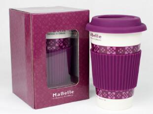 mabelle紫色水杯 隔热杯 杯子 创意马克杯 陶瓷杯 星巴克风格,马克杯,