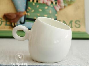 欧式创意骨瓷杯子 纯白咖啡杯 陶瓷马克杯 杯子 情侣杯,马克杯,