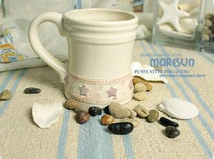 【瑕疵,特售】胖小星。地中海 马克杯 咖啡杯,马克杯,