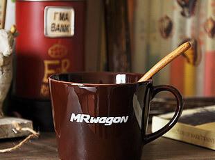 咖啡色 陶瓷马克杯 旅行咖啡杯 杯子,马克杯,