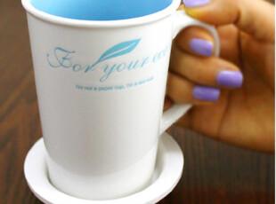 12.3【现货】韩国家居 可爱彩色内釉陶瓷马克杯 带盖 4色可选,马克杯,