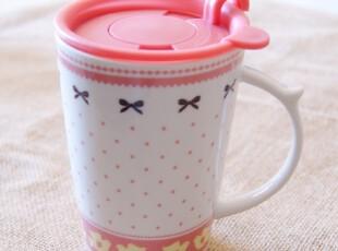 可爱杯子 带盖 陶瓷杯 马克杯 水杯 杯子 陶瓷 陶瓷杯子 创意杯,马克杯,