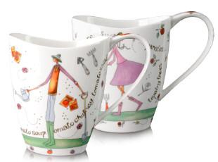千顺 情侣对杯 陶瓷杯子 创意骨瓷水杯 马克杯 多款选择,马克杯,