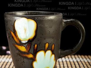Kingda:手工陶瓷杯子 外贸订单 带把随手杯 牛奶杯 马克杯 水杯,马克杯,