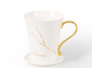 天天特价 十二星座杯子 陶瓷 带盖 可爱 创意水杯 情侣 马克杯,马克杯,