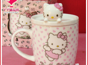 hello kitty 正版 出口韩国立体 陶瓷杯 水杯 咖啡杯 杯子 马克杯,马克杯,