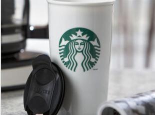 包邮正品星巴克杯子 创意带盖陶瓷杯子马克杯 水杯 情侣杯 咖啡杯,马克杯,