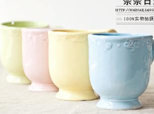 特价促销 田园浮雕欧式陶瓷咖啡杯 马克杯 水杯 出口尾单略带瑕疵,马克杯,