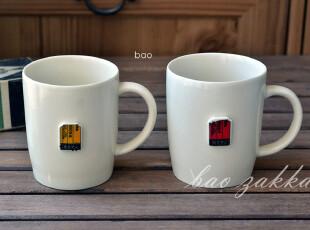 BAO ZAKKA 杂货  亚光 浮雕复古票据 马克杯 咖啡杯,马克杯,