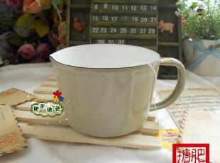 三皇冠 外销日本 oriori 两色搪瓷 0.5L马克杯 咖啡杯 量杯 漏嘴,马克杯,