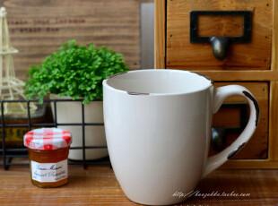 特惠 Baos zakka 陶瓷仿搪瓷系列 白色 弧形 马克杯,马克杯,