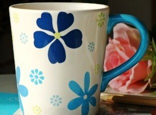 北非风情/摩洛哥幸运草陶瓷咖啡杯/马克杯/茶杯,马克杯,