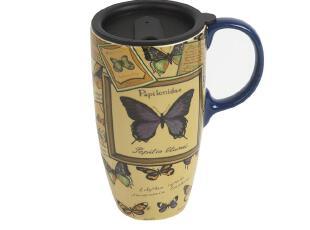 5折清仓欧式乡村田园创意家居 杯子水杯带盖陶瓷杯马克杯 星巴克,马克杯,