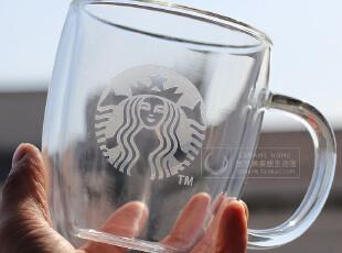 包邮 正品星巴克双层玻璃杯 2011新标 独家 马克杯水杯啤酒杯,马克杯,