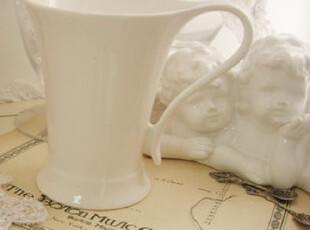 出口欧美纯白陶瓷水杯  优质 骨瓷 杯子 咖啡杯 马克杯 牛奶杯,马克杯,